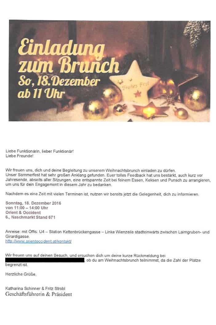 SWV Einladung zum Weihnachtsbrunch