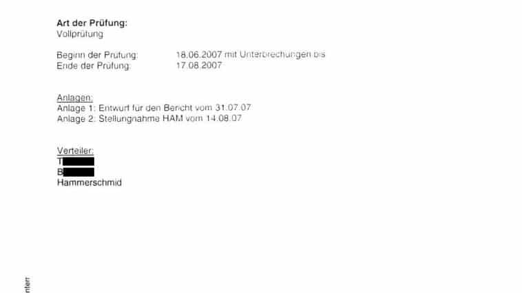Bericht der internen Revision 09/2007