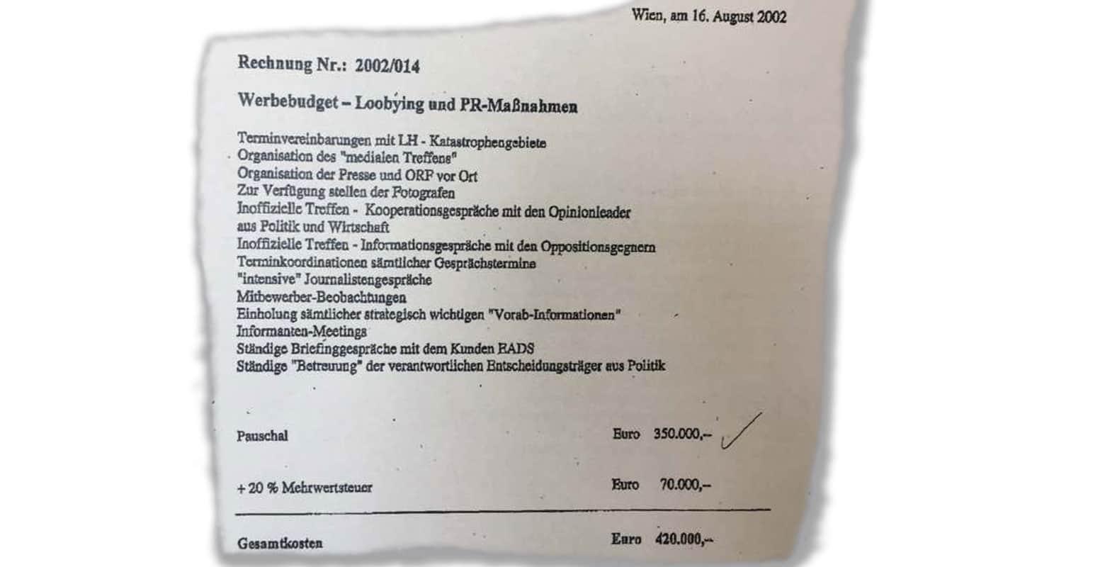 100 % Communications PR-Agentur GmbH - Werbebudget für PR und Lobbying