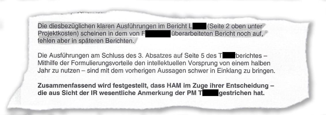 Laut Bericht der Internen Revision hat Sonja Hammerschmid wesentliche Anmerkungen gestrichen