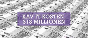 KAV IT-Kosten - 313 Millionen Euro