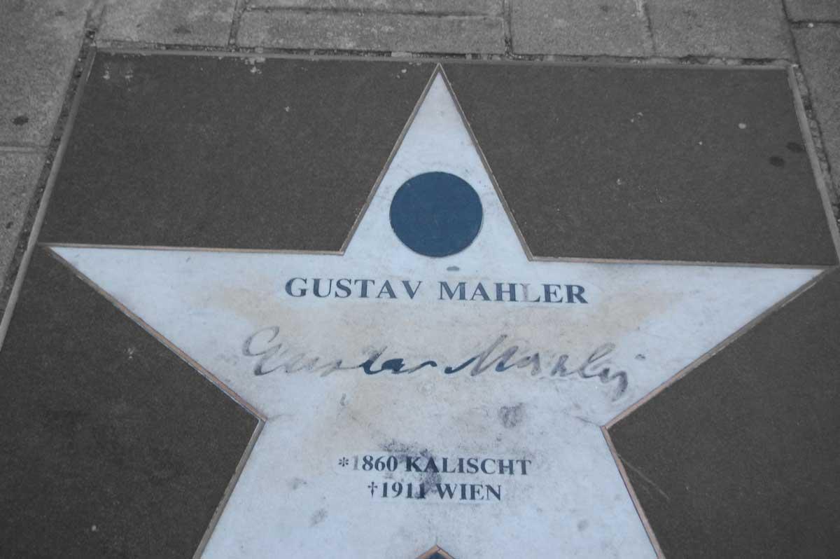 Walk of Fame - Gustav Mahler - Foto: Fass ohne Boden