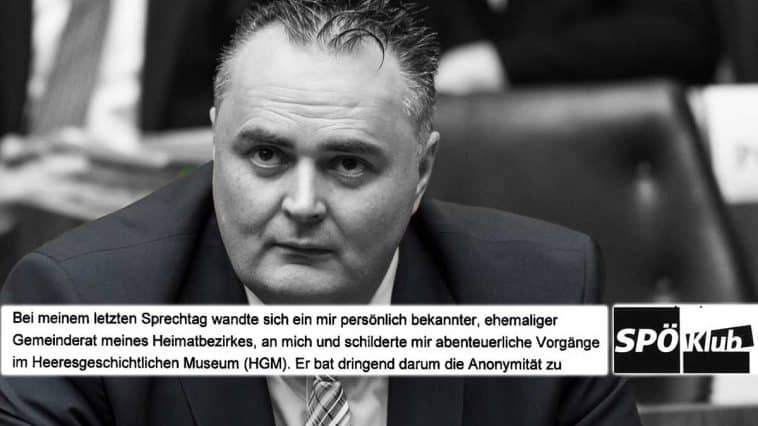 Abenteuerlichste Vorgänge im HGM - Hans Peter Doskozil - Foto Parlamentsdirektion - Thomas Jantzen