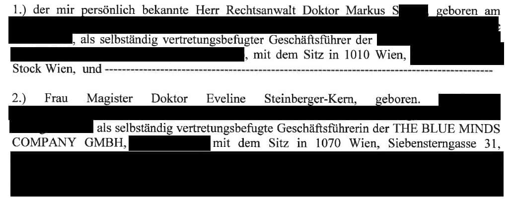 Steinberger-Kern und Rechtsanwalt Markus S.