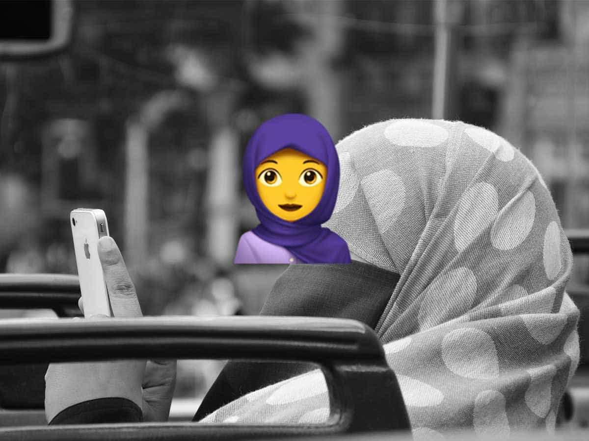 Wiener Schülerin erfand Kopftuch-Emoji - Foto - Pixabay und emojipedia.org - Icon Woman With Headscarf on Apple iOS 11.1
