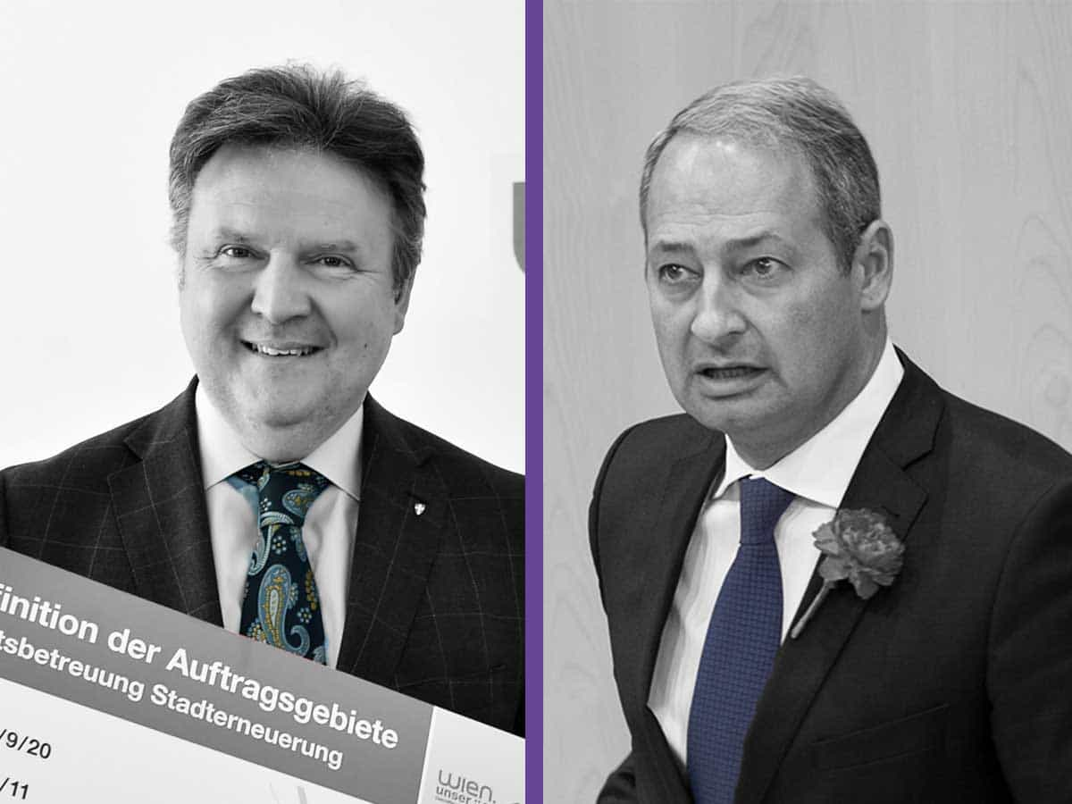 li Michael Ludwig - PID C. Jobst - re Andreas Schieder - Fass ohne Boden