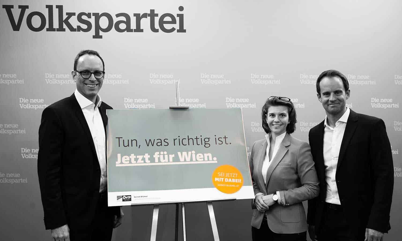 PK bei der ÖVP Wien - Ottenschläger, Olischar und Wölbitsch