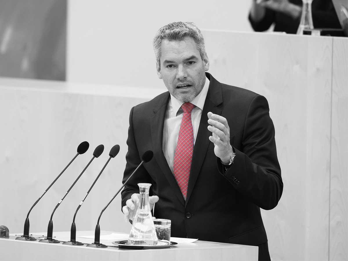 Karl Nehammer - Parlamentsdirektion - Thomas Jantzen
