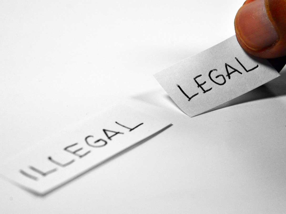 Motivsujet - Illegal - Legal - Ramdlon auf pixabay