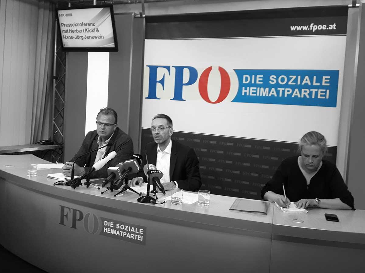 Pressekonferenz mit Herbert Kickl und Hans-Jörg Jenewein