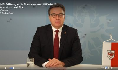 Erklärung von Landeshauptmann Günther Platter - Screenshot Günther Platter